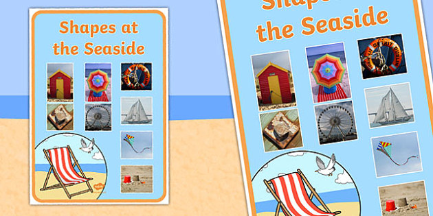Shapes At The Seaside Large Poster - seaside, seaside shapes, shapes, seaside shapes poster, large seaside shapes poster, shapes at the seaside, beach