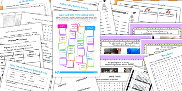 KS3 Literacy Spellings Catch Up Resource Pack - literacy, spell