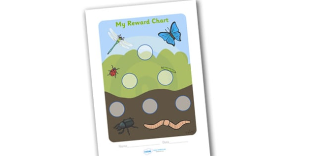 Minibeast Reward Chart (30mm) - Minibeast Reward Chart (30mm), minibeast, reward chart, chart, reward, 30mm, 30 mm, stickers, twinkl stickers, award, certificate, well done, behaviour management, behaviour, minibeasts, caterpillar, beatle, fly