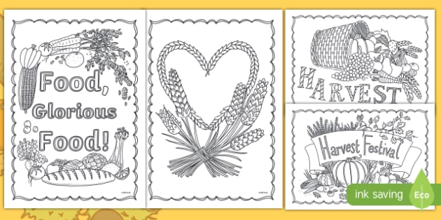 Harvest Mindfulness Colouring Pages