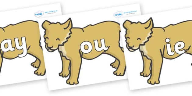 Phase 5 Phonemes on Puppy - Phonemes, phoneme, Phase 5, Phase five, Foundation, Literacy, Letters and Sounds, DfES, display