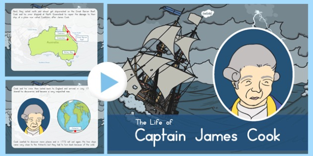 James Cook PowerPoint - australia, james cook, powerpoint, captain