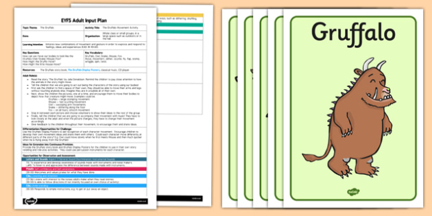 Movement Activity to Support Teaching on The Gruffalo EYFS Adult Input Plan and Resource Pack - adult input, adult led