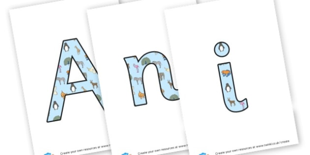Animal Lettering - Animals Display Primary Resources,  Display, Posters,   Animals