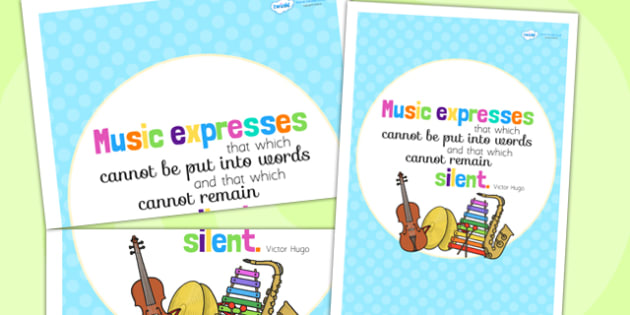 Music Expresses Motivational Poster - music, music display