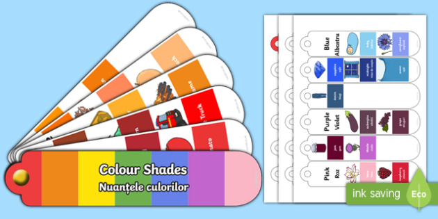 Colour Shades Fan Book English/Romanian