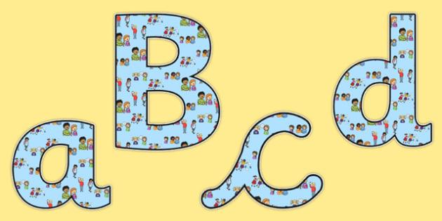 Bullying Lowercase Display Lettering - bullying, anti-bullying, bullying lettering, bullying display letters, bullying cut out letters, bullying alphabet, bullying