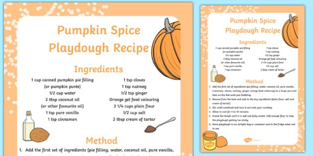 Pumpkin Spice Playdough Recipe - pumpkin, spice, playdough, recipe