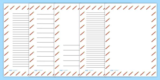 Felt Tip Pen Portrait Page Borders- Portrait Page Borders - Page border, border, writing template, writing aid, writing frame, a4 border, template, templates, landscape