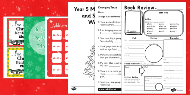 Top Ten UKS2 Christmas Maths  Activity Sheet Pack