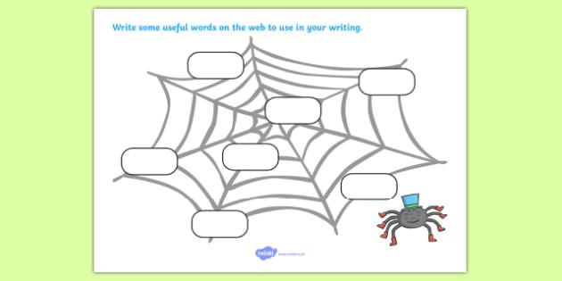 Word Web Activity Sheet - handwriting, writing, words, web, worksheer, independent writing, writing aid