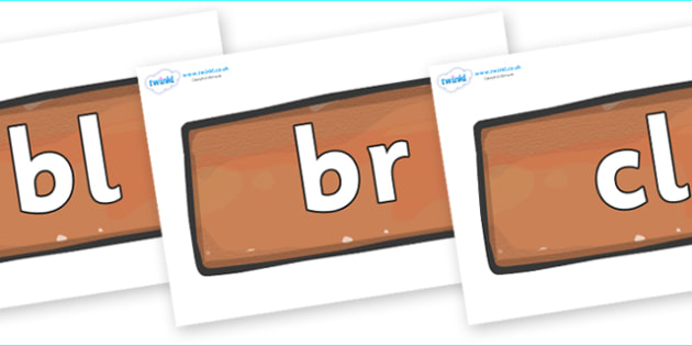 Initial Letter Blends on Bricks - Initial Letters, initial letter, letter blend, letter blends, consonant, consonants, digraph, trigraph, literacy, alphabet, letters, foundation stage literacy