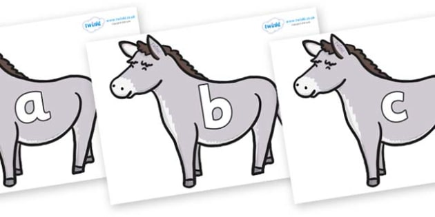 Phase 2 Phonemes on Donkeys - Phonemes, phoneme, Phase 2, Phase two, Foundation, Literacy, Letters and Sounds, DfES, display
