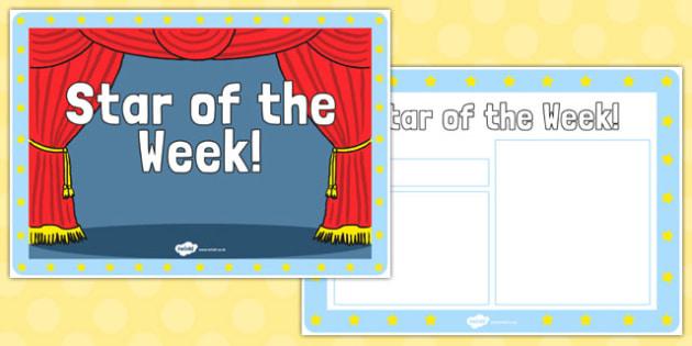 Star of the Week Display Book - star, week, display book, display, star of the week