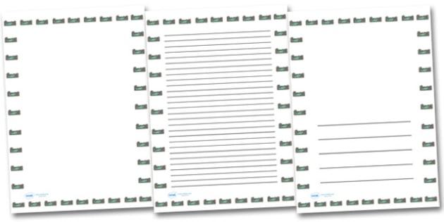 Rock Pool Portrait Page Borders- Portrait Page Borders - Page border, border, writing template, writing aid, writing frame, a4 border, template, templates, landscape