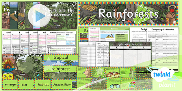 PlanIt - Geography Year 3 - Rainforests Unit Pack - planit, geography, year 3, rainforests, unit pack