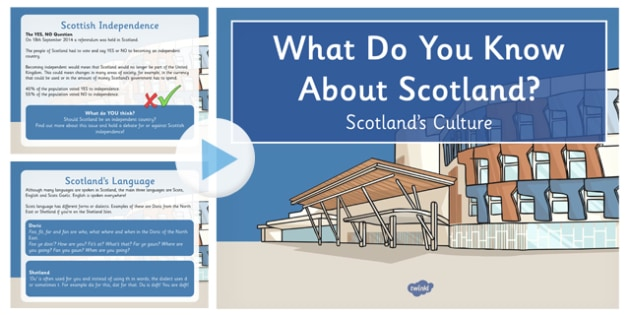 All About Scotland's Culture PowerPoint CfE