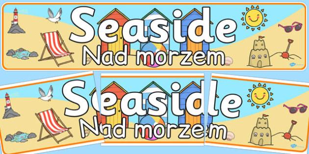 Seaside Banner Polish Translation - polish, seaside, banner