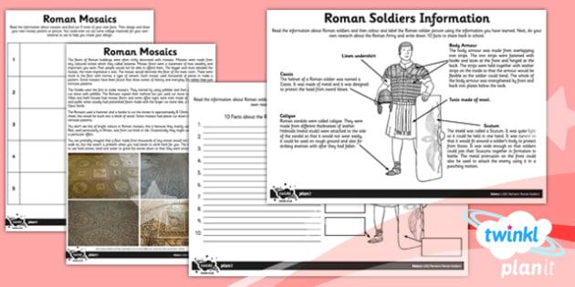 PlanIt - History LKS2 - Romans Unit: Home Learning Tasks