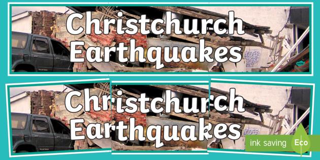 Christchurch Earthquakes Display Banner