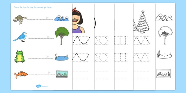 Line Writing Worksheets - line, handwriting, usa, worksheets, america
