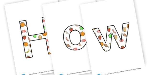 Healthy - Display Lettering - Healthy Eating, Display,  Primary Resources - food, meals, health