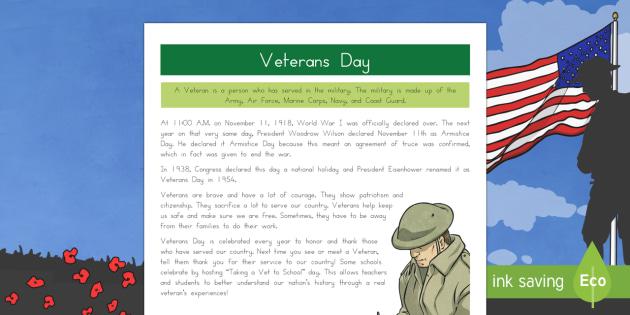 Veterans Day Fact File