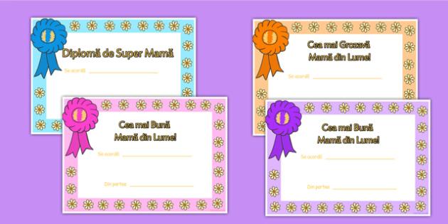 Diplome pentru Ziua Mamei - 8 martie, mama, cadou