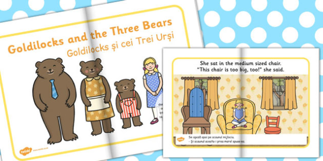 Goldilocks Three Bears eBook EAL Romanian Translation - romanian