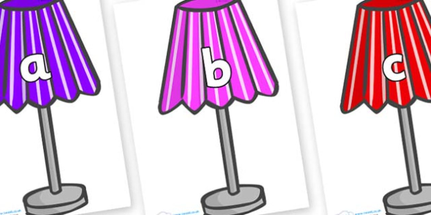 Phase 2 Phonemes on Lamps - Phonemes, phoneme, Phase 2, Phase two, Foundation, Literacy, Letters and Sounds, DfES, display