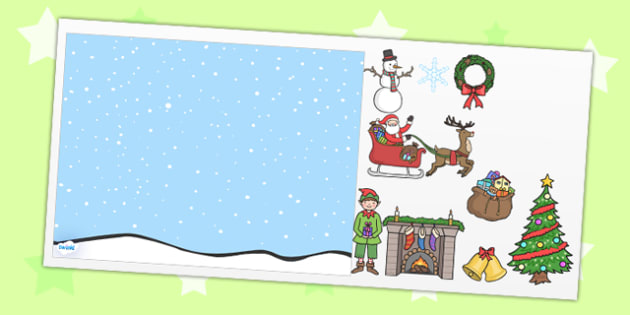 Christmas PowerPoint Background Template Editable  - christmas