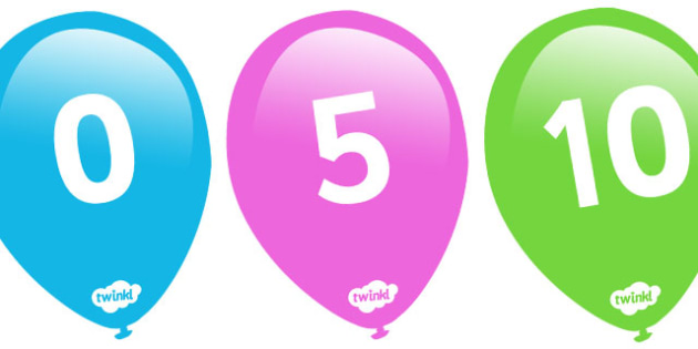 Counting in 5s on Balloons - Counting, Numberline, Number line, Counting on, Counting back, even numbers, foundation stage numeracy, counting in 5s