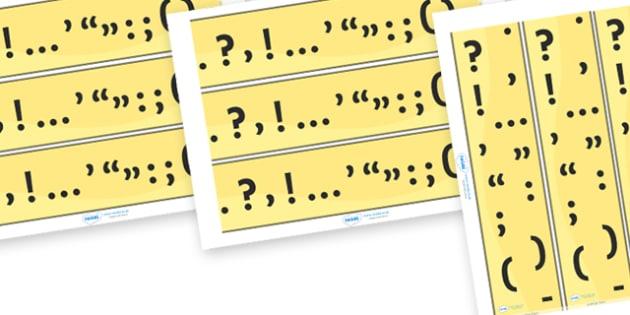 Punctuation Display Border - punctuation, display border, display