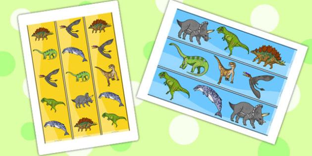 Realistic Dinosaurs Display Borders - dinosaur, display borders