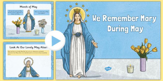 Creating a May Altar PowerPoint-Irish - Mary