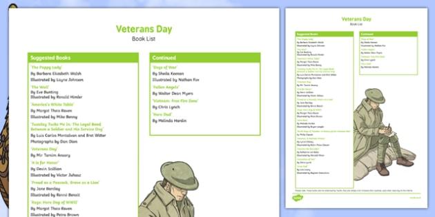 Veterans Day Book List