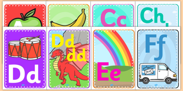 Alphabet Display A4 Posters Welsh Translation - displays, poster