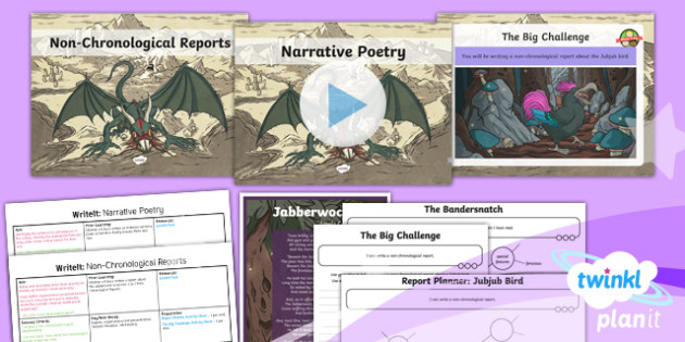 PlanIt Y5 Animals: Jabberwocky WriteIt Pack