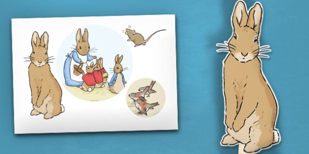 The Tale of Peter Rabbit Stick Puppets - peter rabbit, stick