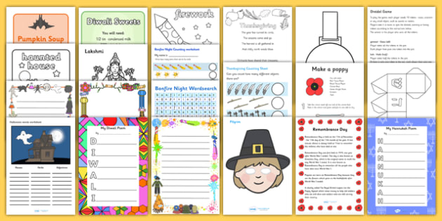 Autumn Term Festivals and Celebrations Activity Pack - autumn, autumn term, festival, celebrations, autumn celebrations, activity pack, autumn activities