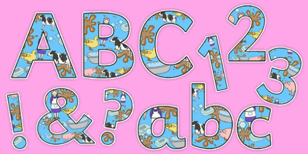 Washerwoman Display Lettering Pack - mrs wishy washy, washerwoman, display lettering pack