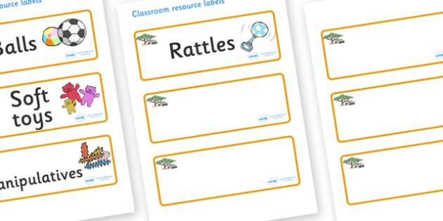 Safari Themed Editable Additional Resource Labels - Themed Label template, Resource Label, Name Labels, Editable Labels, Drawer Labels, KS1 Labels, Foundation Labels, Foundation Stage Labels, Teaching Labels, Resource Labels, Tray Labels, Printable l