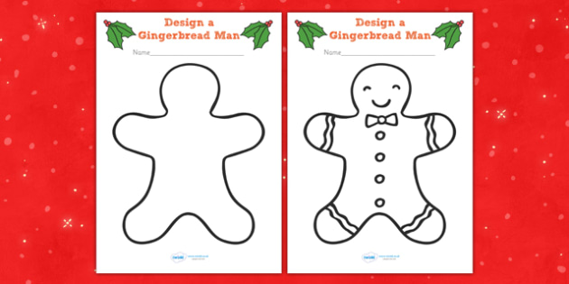 Gingerbread Man Colouring Sheets - colouring, sheets, fine motor skills, gingerbread man, ginger bread man, ginger bread people, ginger bread colouring, colour the ginger bread man, poster, worksheet, display, fun, activity, art, craft