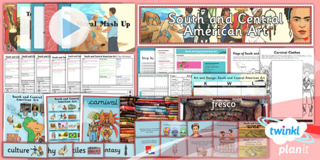 PlanIt - Art UKS2 - South and Central American Art Unit Pack - planit