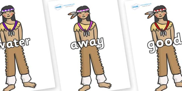 Next 200 Common Words on Native Americans - Next 200 Common Words on  - DfES Letters and Sounds, Letters and Sounds, Letters and sounds words, Common words, 200 common words
