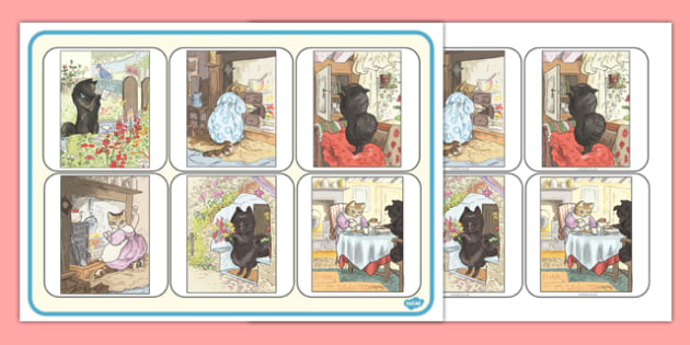 Beatrix Potter - The Tale of the Pie and the Patty Pan Matching Mat - beatrix potter, pie, patty pan, matching mat