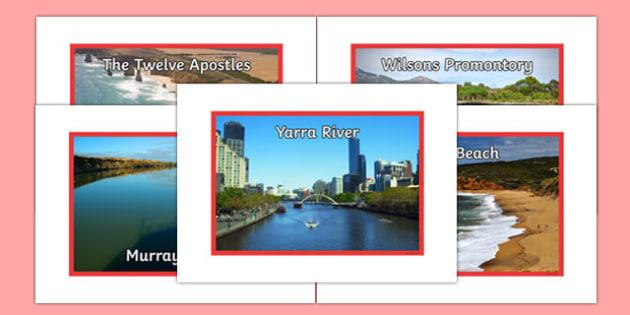Victoria Natural Features Photo Pack - australia, rivers, lakes, mountains, natural, tourist attraction, landscape, landmark