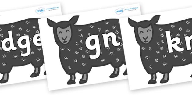 Silent Letters on Black Sheep to Support Teaching on Brown Bear, Brown Bear - Silent Letters, silent letter, letter blend, consonant, consonants, digraph, trigraph, A-Z letters, literacy, alphabet, letters, alternative sounds