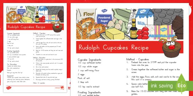 Rudolph Cupcakes Recipe