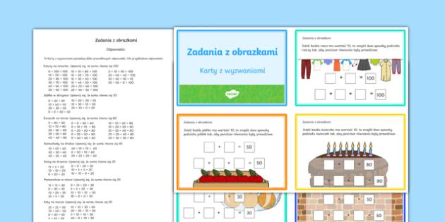 Karty z wyzwaniami Zadania z obrazkami po polsku